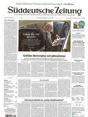 Bild: Bericht Munichtime in SÜDDEUTSCHER ZEITUNG-29-10-2015